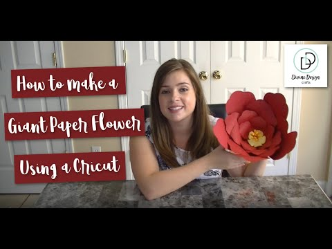 How to Make a Giant Paper Flower Using a Cricut