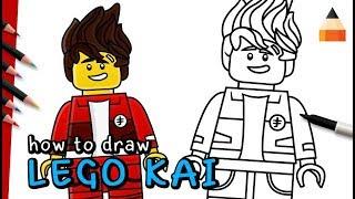 How To Draw Kai | Ninja Kai | The LEGO Ninjago Movie