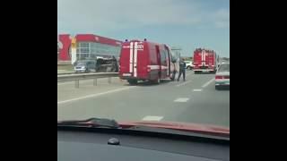 Смотреть видео ДТП с Автобусом Москва-Баку на Ставрополье онлайн