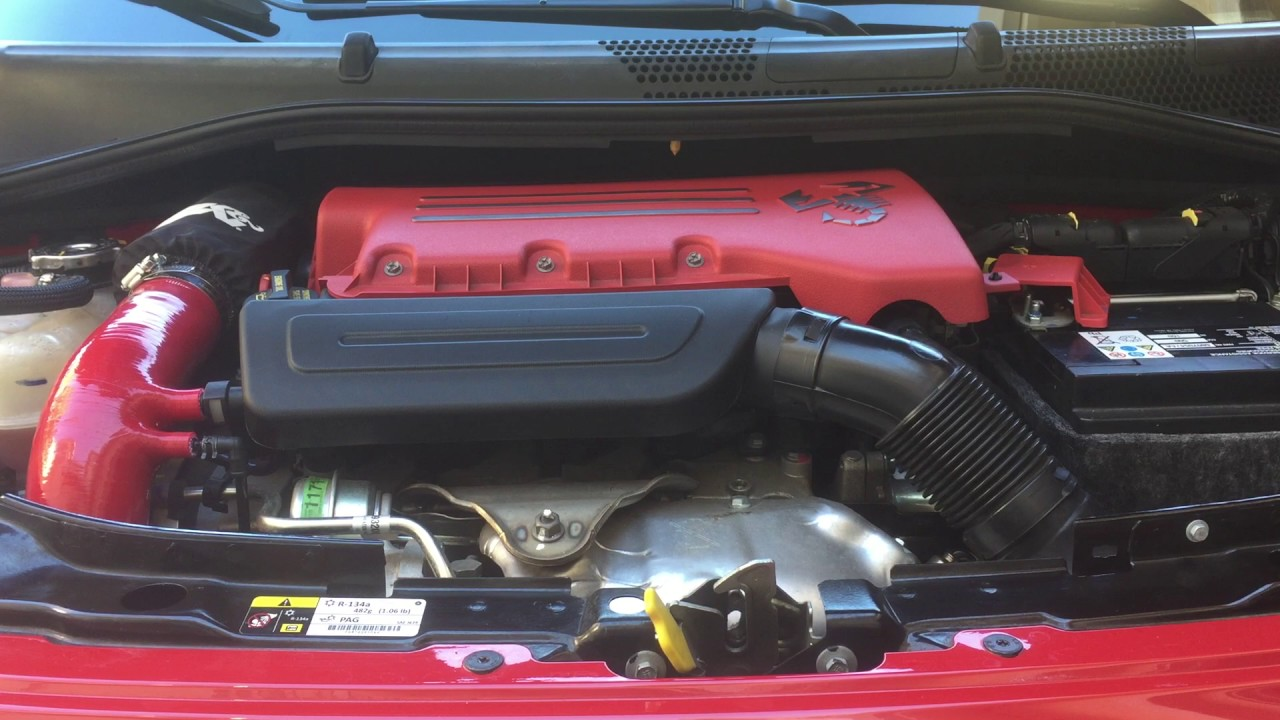 2013 fiat abarth - cold air intake sounds - youtube