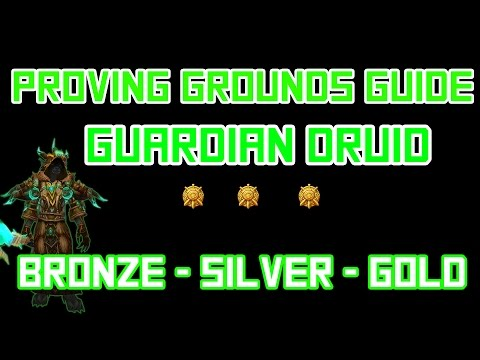 (L100 Guardian Druid) Proving Grounds - Bronze/Silver/Gold Tanking Guide