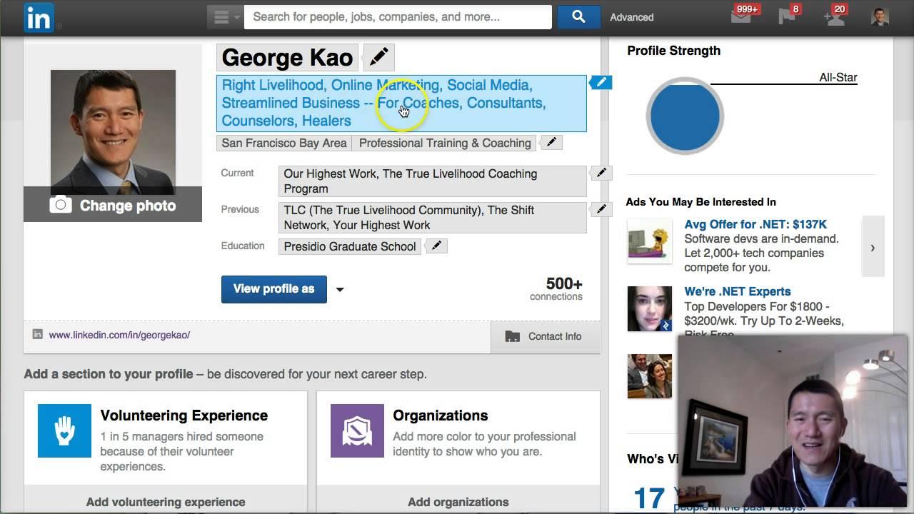 "LinkedIn Training: How To Write Your LinkedIn ""Professional Headline"""