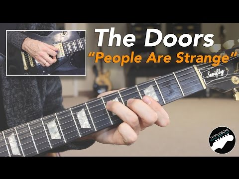 "The Doors ""People Are Strange"" Complete Guitar Lesson - Intro and Solo!"