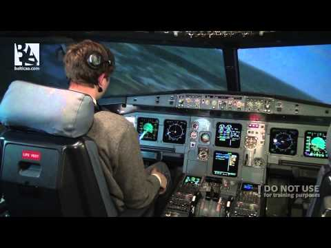 Belly-landing on Airbus A320 - Baltic Avaition Academy