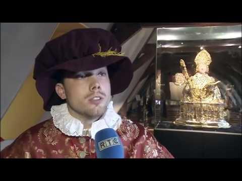 Liège, un Prince Evêque guide les visites au Trésor de la Cathédrale (RTC Télé Liège)