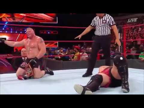 Brock Lesnar vs Samoa Joe Full match - Great Balls of Fire 2017