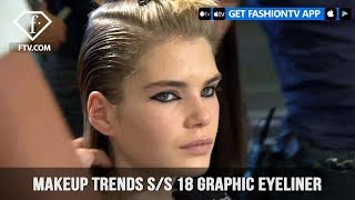 Video Graphic Eyeliner Makeup Trends Backstage at Major Fashion Shows S/S 18 | FashionTV | FTV download MP3, 3GP, MP4, WEBM, AVI, FLV Juni 2018