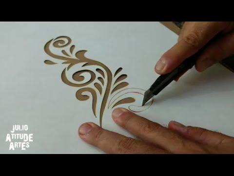 Como Fazer Stencil Para Pinturas Passo A Passo Youtube