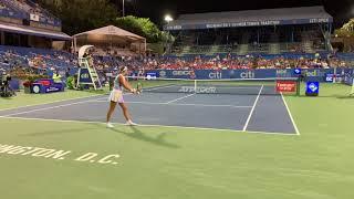 Coco Gauff vs. Victoria Azarenka (Court Level View) Citi Open 2021 Exhibition