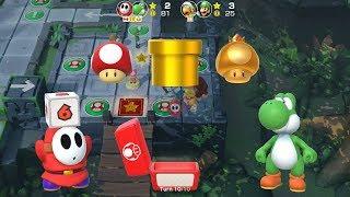 Super Mario Party Partner Party #18 Domino Ruins Treasure Hunt Shy Guy & Yoshi vs Hammer Bro & Luigi