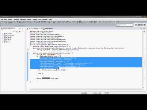 AJAX (Tutorial 03) - JSON + Java Servlet