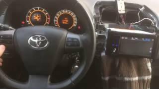 видео Как подключить кнопки на руле к магнитоле на Toyota Corolla