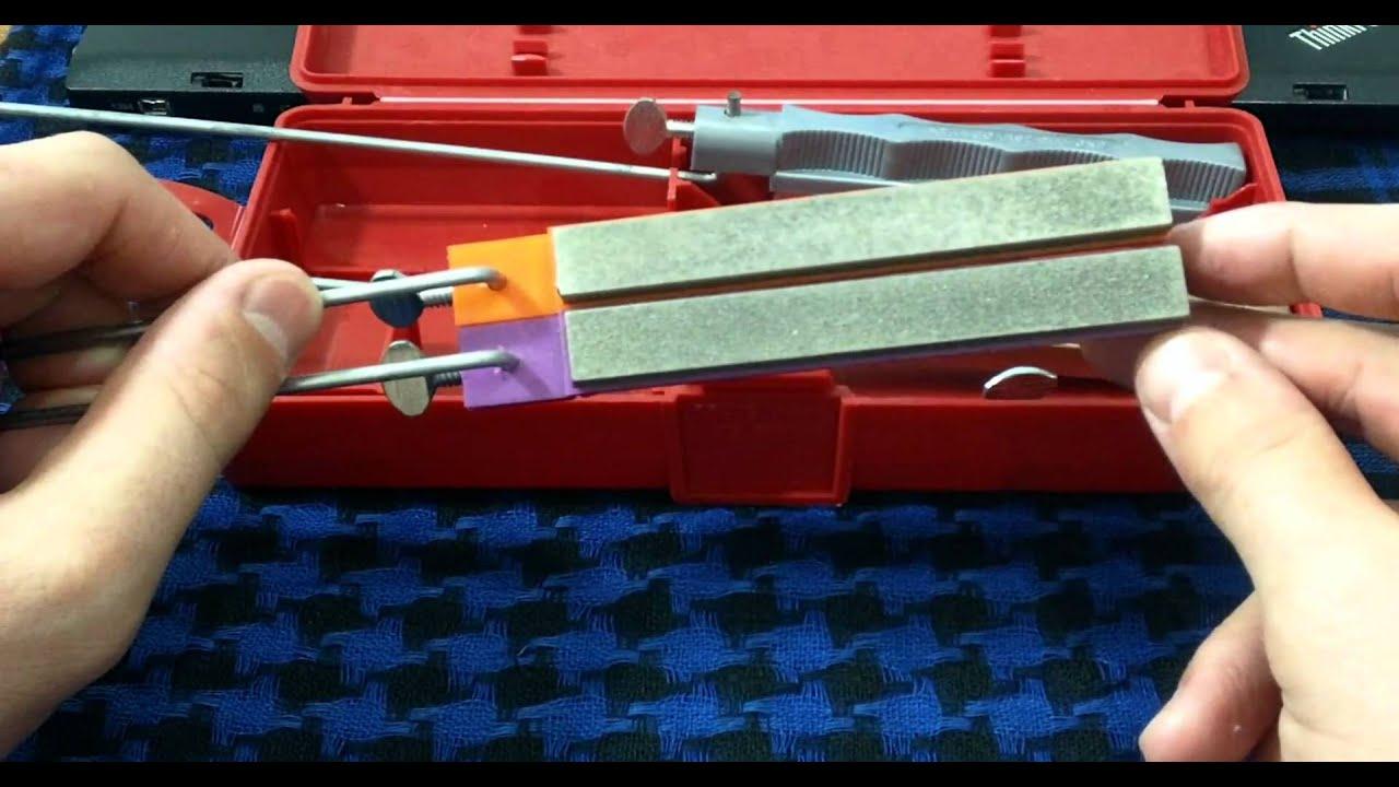 заточка ножей на лански видео