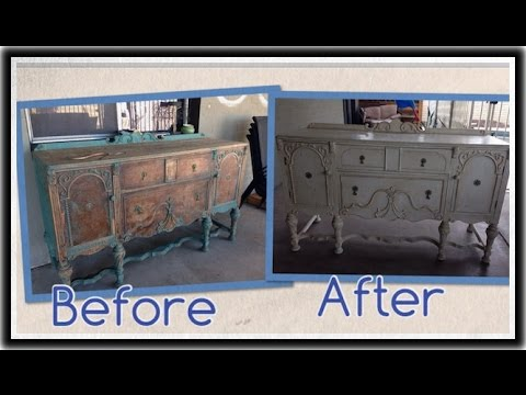 Captivating Distress, Shabby Chic, 1920s Buffet Restoration (Annie Sloan Paint U0026 Wax)