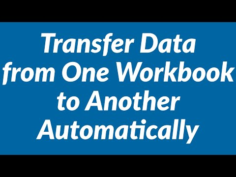 How to Transfer Data from One Excel Workbook to Another ...