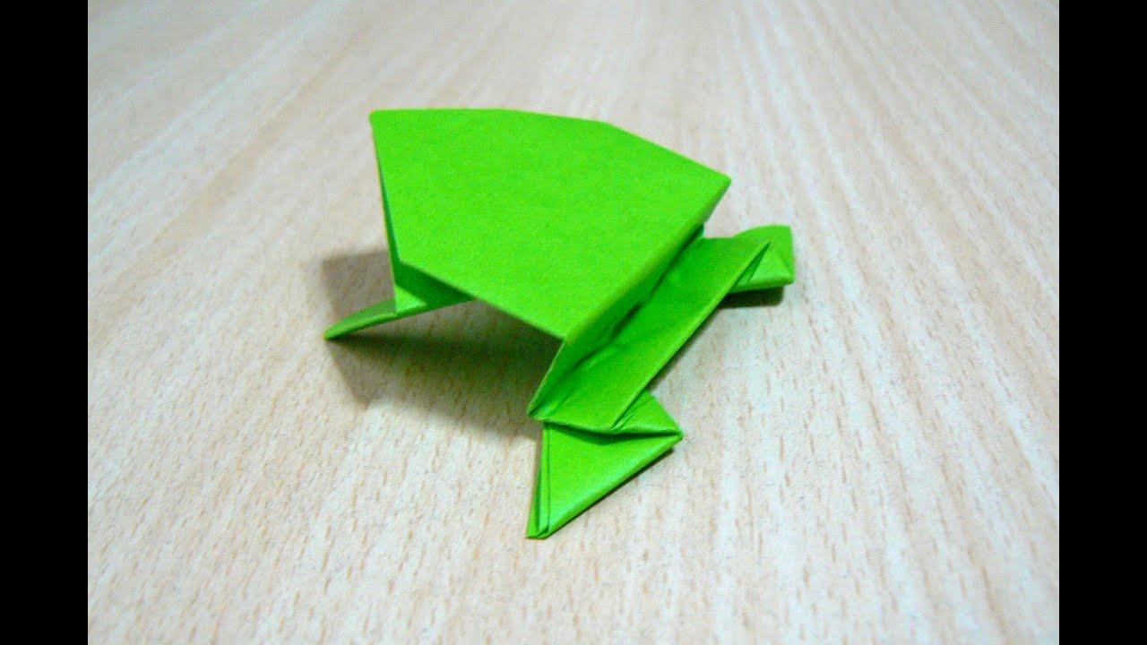 cara membuat melompat katak origami seni melipat kertas