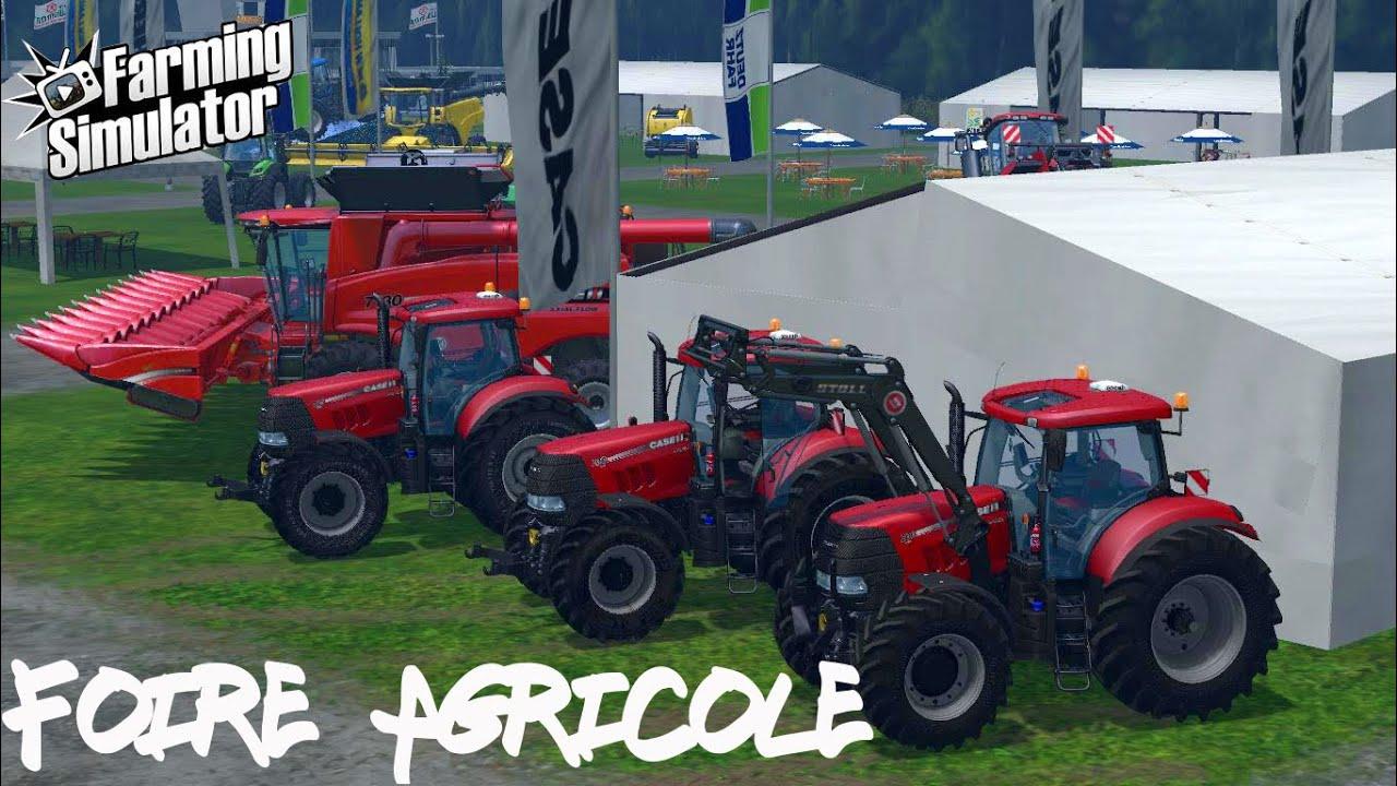 Fs15 foire agricole case cvx s rie 200 youtube for Case agricole