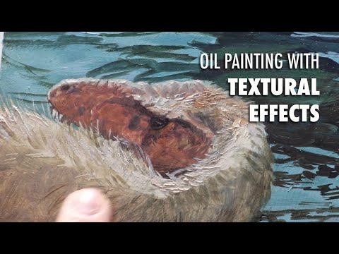 Oil Painting With Textural Effects