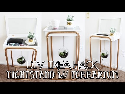 DIY IKEA HACK: Nightstand with Hanging Succulent Terrarium | DIY IKEA Furniture Hack