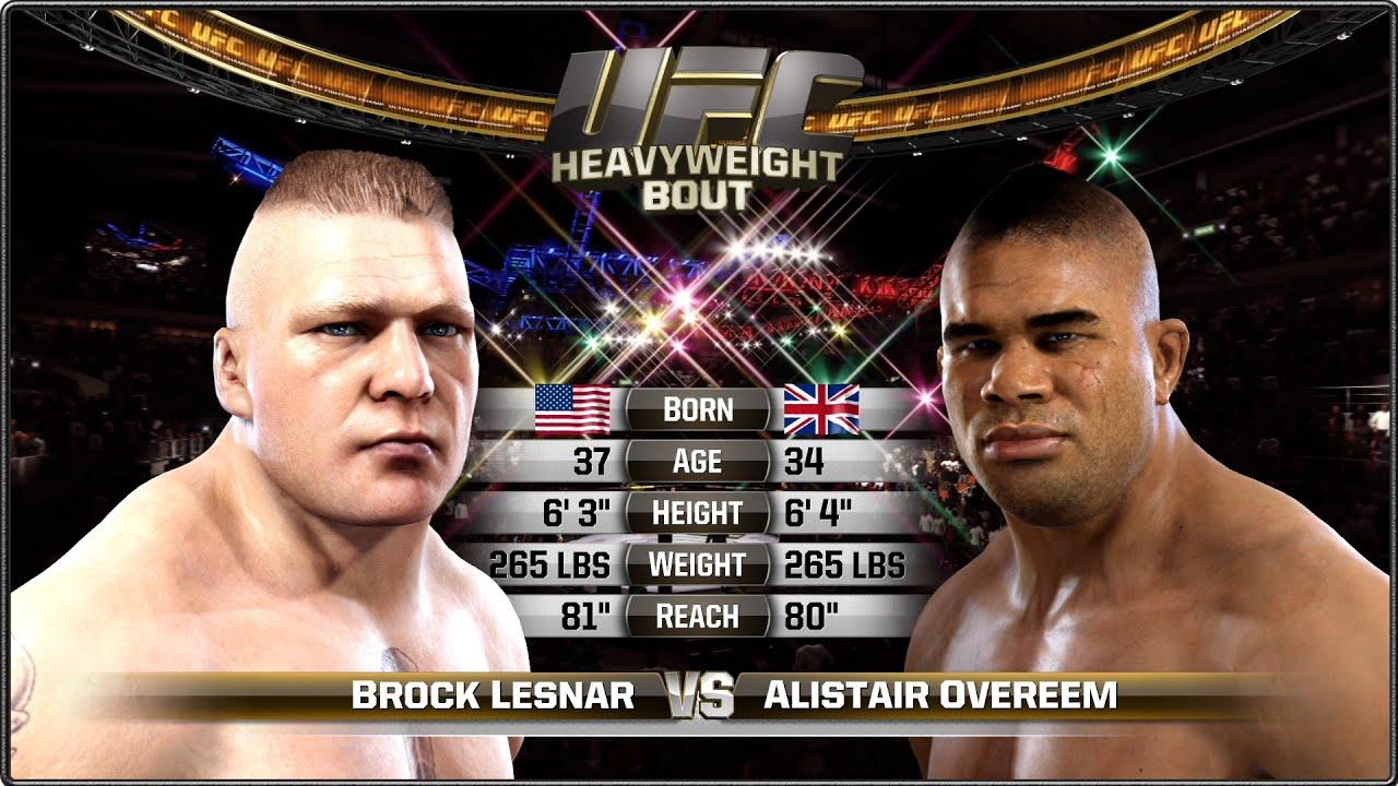 Alistair Overeem vs Brock Lesnar - Full Fight - EA Sports ...