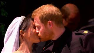 Prince Harry and Megan Share their First Kiss