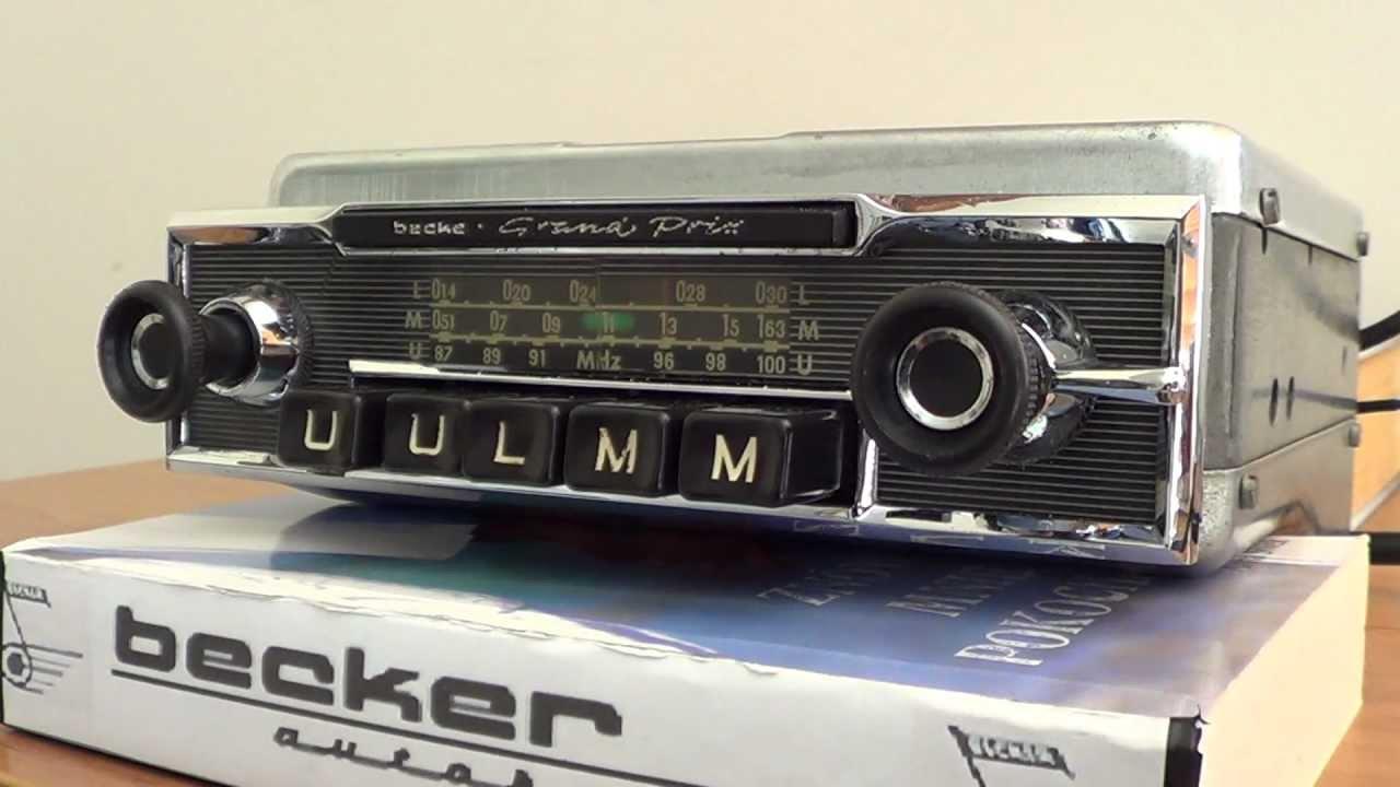 becker grand prix tube radio 1959 for mercedes w111 coupe. Black Bedroom Furniture Sets. Home Design Ideas