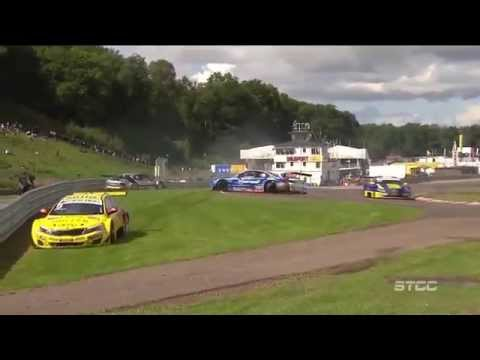 Big Pile Up @ 2014 STCC Knutstorp Race 1