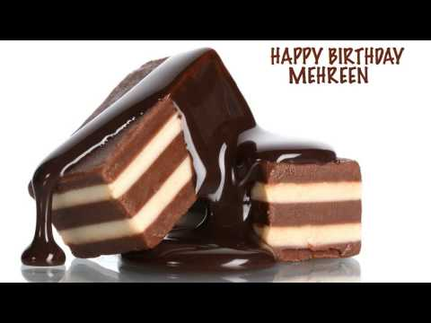 Mehreen  Chocolate - Happy Birthday