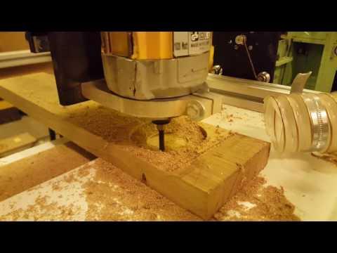$150 DIY CNC - hardwood test