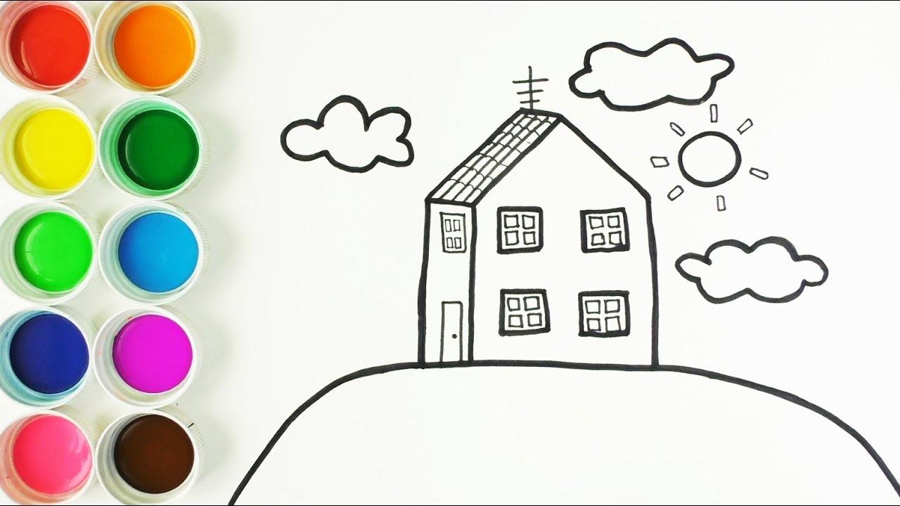 C mo dibujar y colorear la casa de peppa pig dibujos y for Casas para dibujar