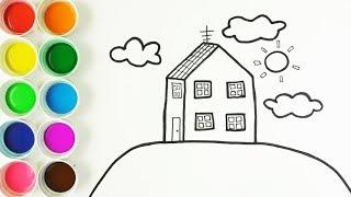 Cómo Dibujar y Colorear la Casa de Peppa Pig - Dibujos y Colores Para Niños - Learn Colors / FunKeep