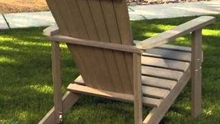 Sydney All Weather Poly Resin Adirondack Chair - Product Review Video