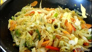 Healthy Vegetable Fry Up Cabbage For Sunday Dinner !!