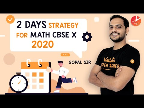 How To Score 90% In 2 Days For Maths CBSE Class 10 Board Exam   2 Days Strategy For Maths Exam