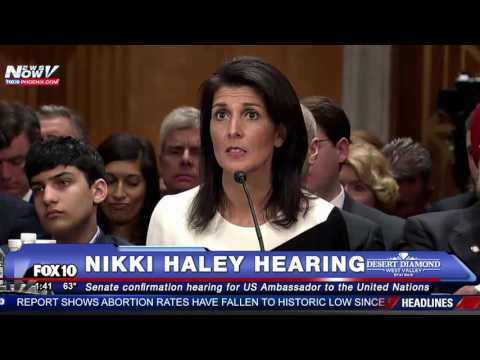 FNN: Nikki Haley Explains Her Position on NOT Taking Syrian Refugees - Senate Confirmation Hearing