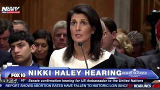 FNN: Nikki Haley Explains Her Position on NOT Taking Syrian Refugees - Senate Confirmation Hearing
