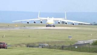 Antonov 225 Mriya  Departure from Manchester 26 June 2013