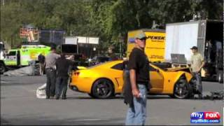 Bumblebee Camaro Crash from Transformers 3 Set with Recovered Audio Starring Shia LaBeouf