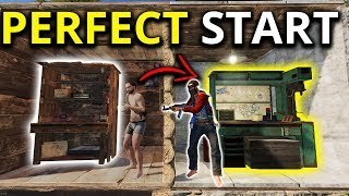 The PERFECT SOLO START FOR LEVEL 3 GEAR - Rust Solo Survival Gameplay 2/2