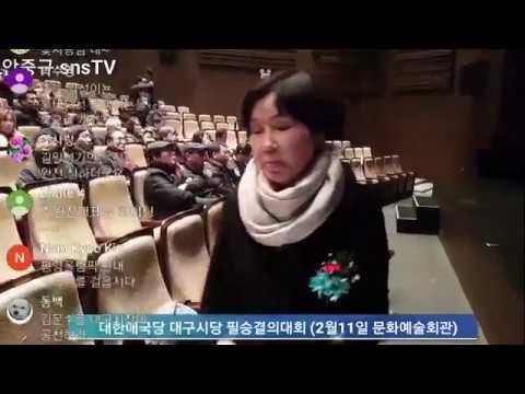대한애국당 대구시당 필승결의대회 (2월11일 문화예술회관) snsTV