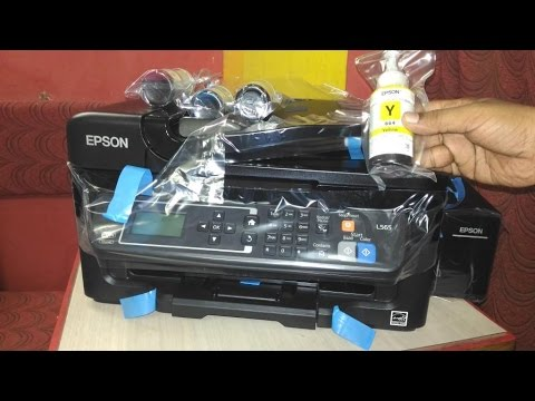Unboxing Epson L565 Ink Tank Multifunction Inkjet Color Printer