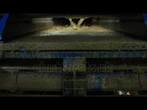 Shale Shaker On An Offshore Oil Rig Separating The Cutting From Drilling Mud Stock Footage Video 596