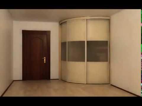 радиусный угловой шкаф гардеробная в