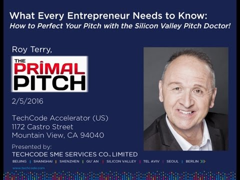 TechCode: How to Perfect Your Pitch with the Silicon Valley Pitch Doctor 2.5.16