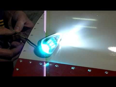 installing led nav / strobe 3-way combination lights on wingtips - part 11   zenith aircraft company