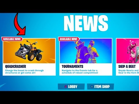 "NEW ""Quad Crasher"" GAMEPLAY + CONSOLE Fortnite Settings BUFFED! (Fortnite Battle Royale Update 6.10) thumbnail"