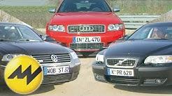 Volvo S60 R vs. Audi S4 vs. VW Passat W8: Reichlich Power in der Mittelklasse