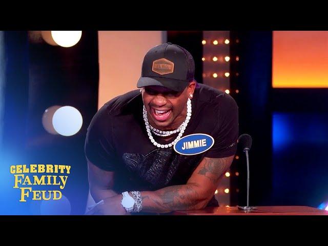 Podium fail! Steve Harvey smacks Tyrone on Celebrity Family Feud!