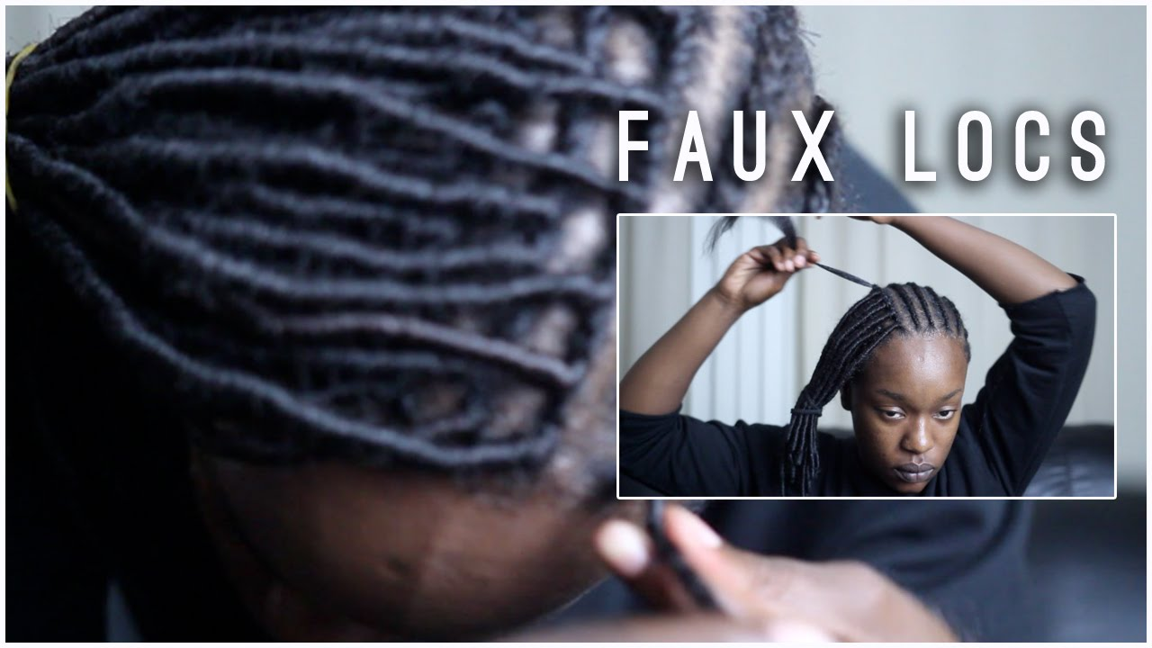 Crochet Braids Faux Locs : Faux Locs Tutorial Yarn Twists Crochet Braids - YouTube