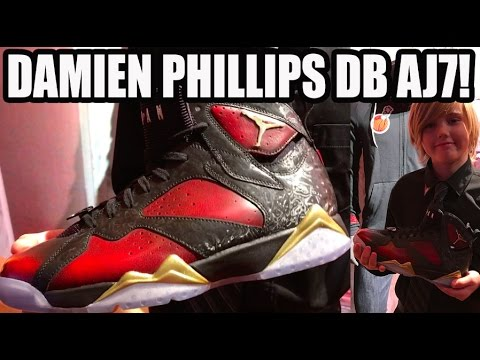 SIGNED BY JORDAN! DOERNBECHER AIR JORDAN 7 DB W/ DAMIEN PHILLIPS (DB7)